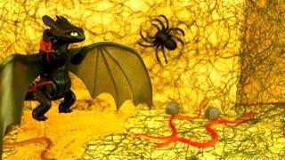 Дракон и Змеи. Паук и обезьяна. Про животных для детей. Видео с игрушками