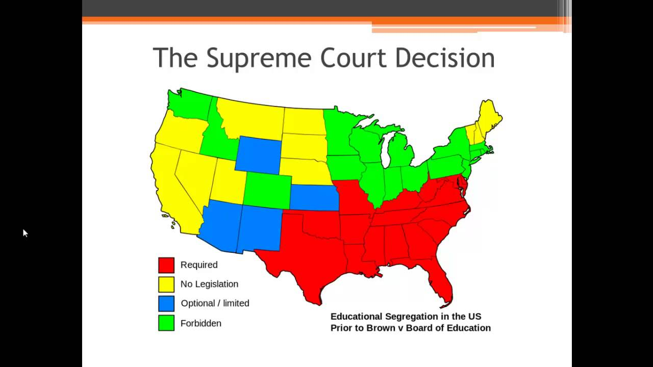 APUSH Review Brown V Board Of Education YouTube - Education maps us