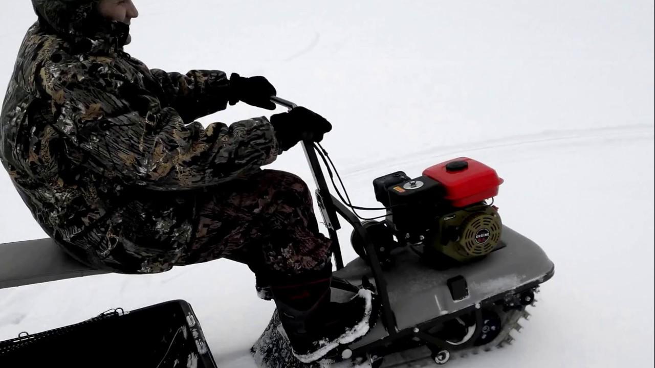 Мини снегоход для зимней рыбалки