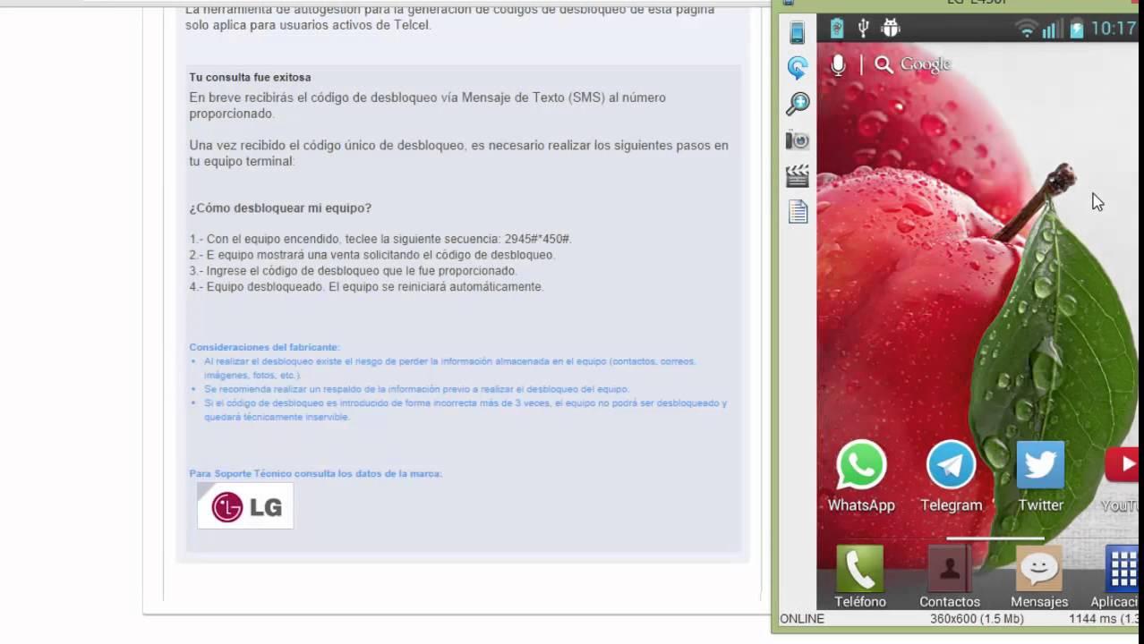 30fe14ce170 Como Desbloquear cualquier LG Telcel 2014 - YouTube