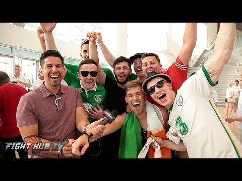 CRAZY & DRUNK IRISH FANS SOUND OFF ON MAYWEATHER VS. MCGREGOR