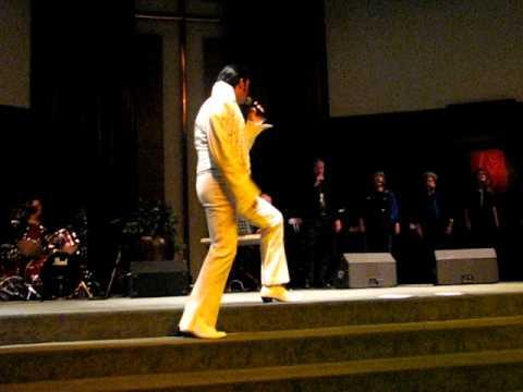Elvis tribute artist sings gospel