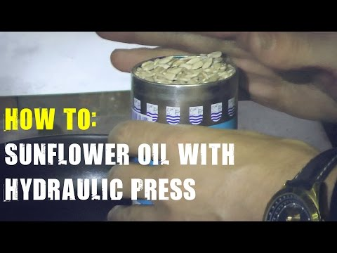 How to Make Sunflower Oil with 500 Ton Hydraulic Press