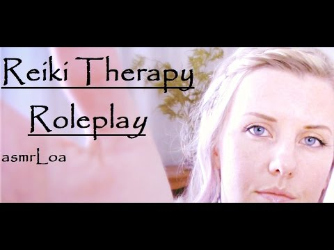 ASMR  *Reiki Therapy Role Play*  --with Rain/thunder Sounds
