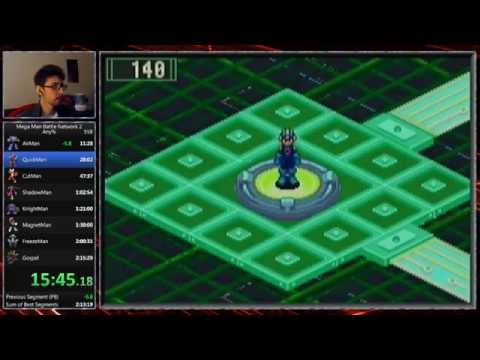 Mega Man Battle Network 2 Any% Glitchless Speedrun Live (2:14:43) [Former World Record]