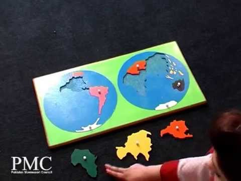Montessori continents jigsaw puzzle map names of the continents montessori continents jigsaw puzzle map names of the continents youtube gumiabroncs Images
