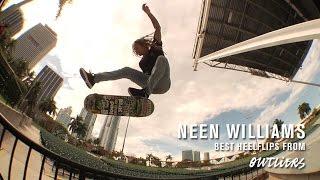 Neen Williams' Best Heelflips From Outliers - TransWorld SKATEboarding