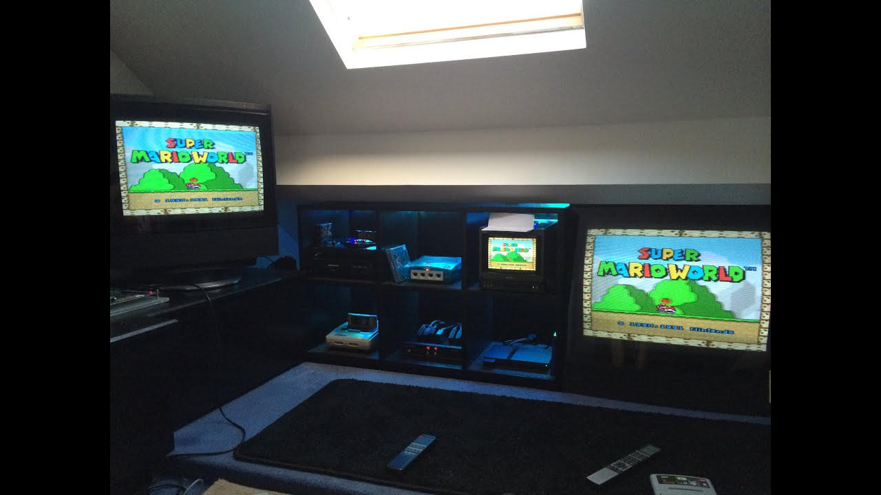 attic media room ideas - Games Room Man Cave Tour September 2014