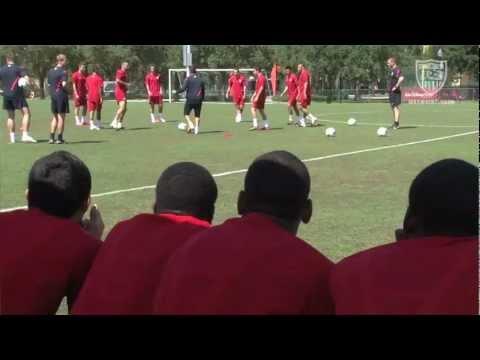 U-17 MNT visit Men's National Team Training Camp in Orlando,