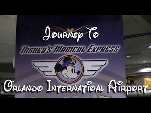 Journey through Orlando International Airport To Disney's Magical Express