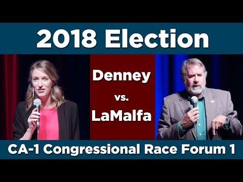 Denney vs LaMalfa Forum–California District 1 Congressional Campaign 2018
