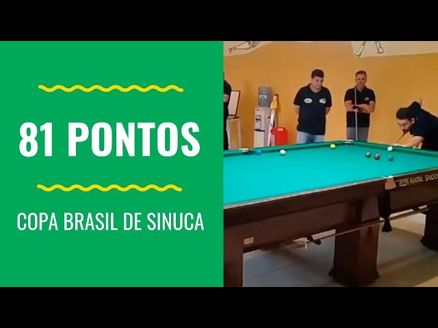 Partida trancada - 81 pontos na regra Brasileira. Copa Brasil de Sinuca