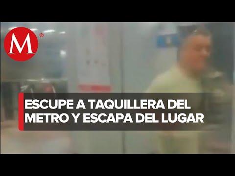 Individuo escupe a taquillera en metro de la CdMx