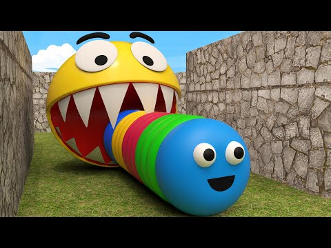Slither.io Vs Pacman And Pokemon In Real Life