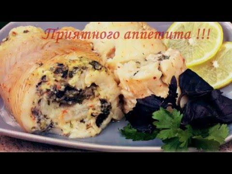 Жареная барабулька с гарниром из кабачка и помидоров