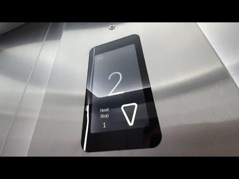 Новый дизайн лифтов OTIS Ambiance. Лифт в школе.