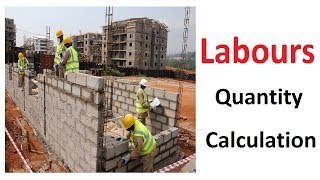Labor required for different construction works