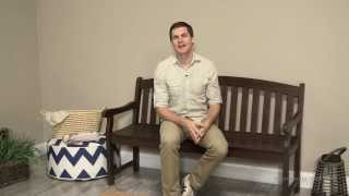 Coral Coast Curved Back 5 Ft. Garden Bench - Dark Brown - Product Review Video