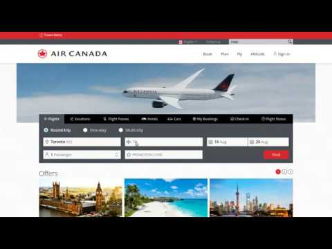 Travel Tutor: Booking On Www.aircanada.com