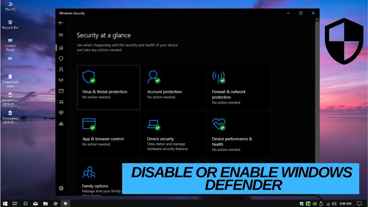 Windows Defender in Windows 10 | Enable or Disable Windows 10 Defender