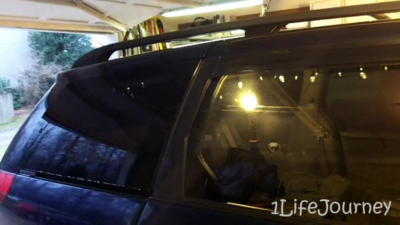 Van Build Part 9 5 Removable Window Tint And Modifying