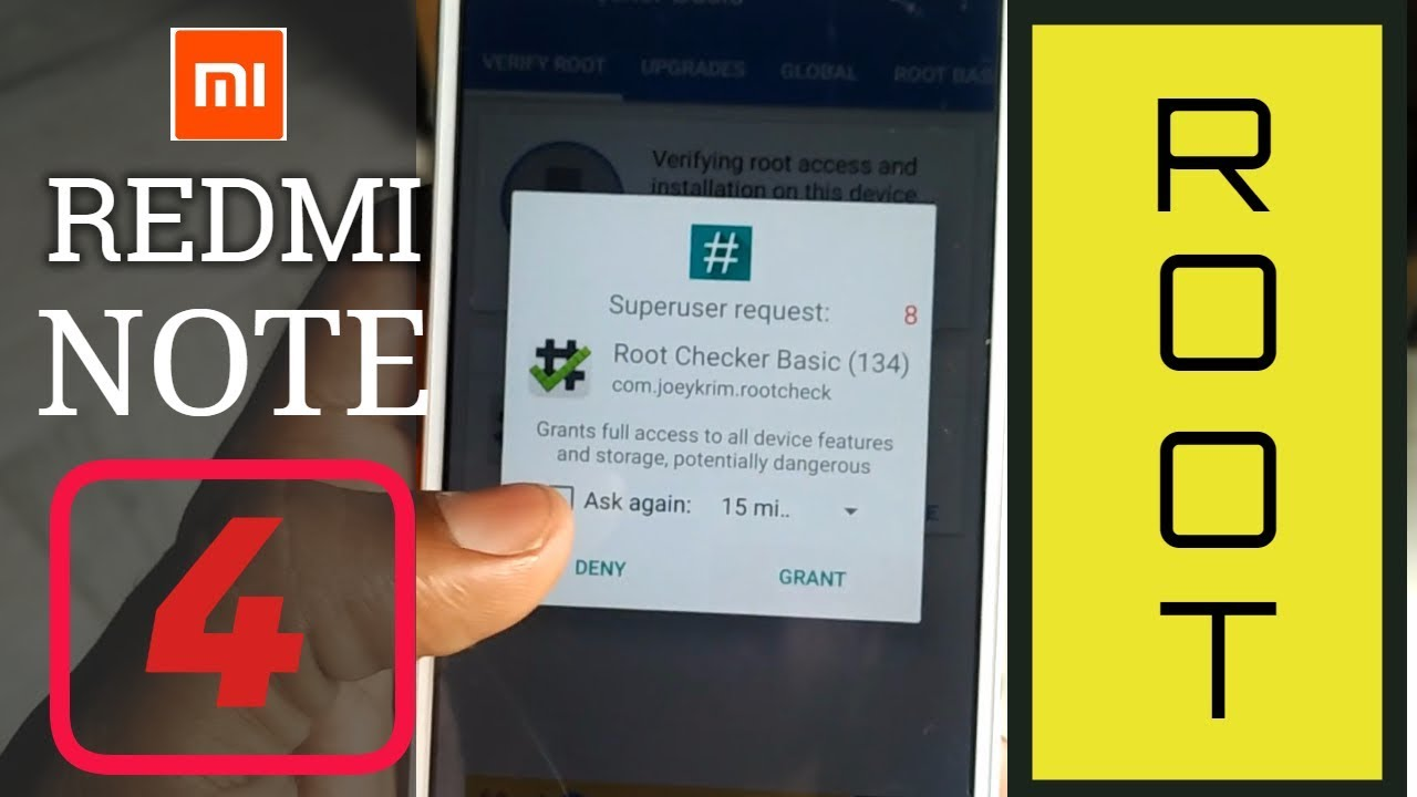 Redmi Note 4 root 100% with very easy steps with miui 8