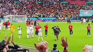 ENGLAND FANS SINGING THREE LIONS AFTER ENGLANDS 2 0 WIN AGAINST GERMANY IN THEIR EURO 2020 GAME