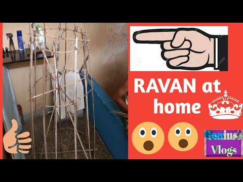 how to make ravana step by step at Home ( part 1 ) dusshera special || by Genius's vlogs