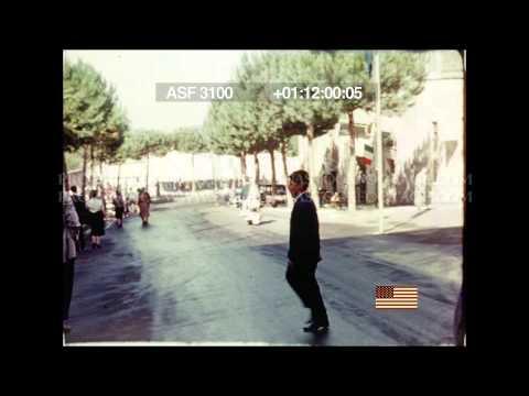 HD STOCK FOOTAGE - 1960 Traffic in Rome