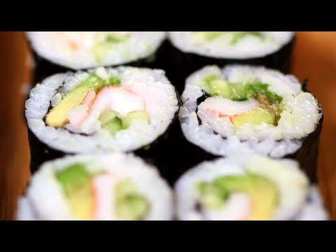 California Sushi Roll Recipe, Japanese Food, Yum How To
