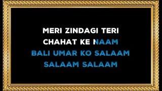Meri Zindagi Teri Chahat Ke Naam - Karaoke - Bali Umar Ko Salam - Kumar Sanu