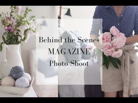 Magazine Photo Shoot at the Farmhouse on Boone | BEHIND THE SCENES