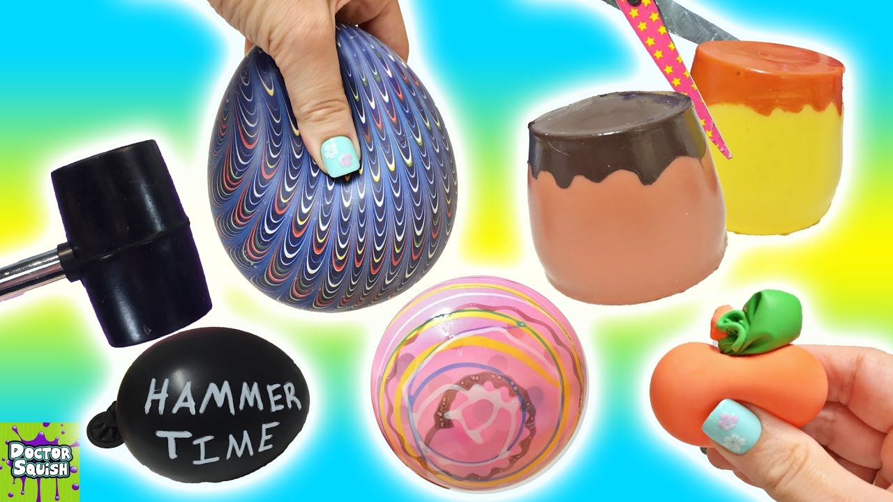 Cutting Open Squishy Toys! ALL Homemade! Surprise Squis... Doovi