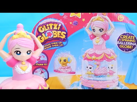 Glitzi Globes Spinning Ballerina Princess Moose Toys Unboxing by Toy Reviews For You