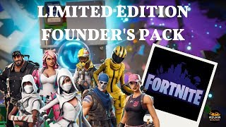 Fortnite PVE LIMITED EDITION FOUNDERS PACK! WATCH AS I OPEN REWARDS, SMASH LLAMAS and PICK HEROES!