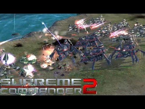 Supreme Commander 2 - Cybran Naval Supreme - 3v3 Multiplayer Gameplay