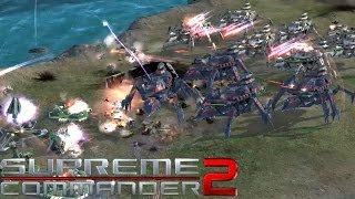 Supreme Commander 2 - Cybran Naval Supreme - 3v3 Multiplayer Gameplay