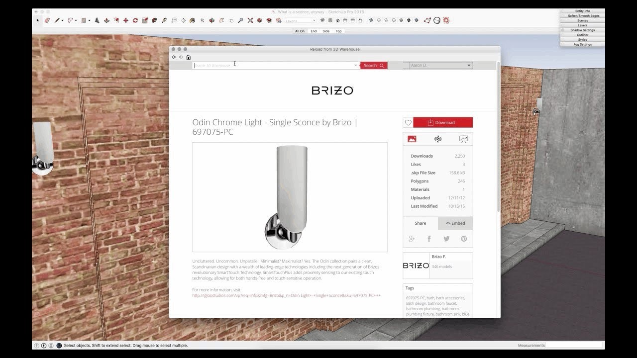 SketchUp Skill Builder: Swapping Components from 3D Warehouse