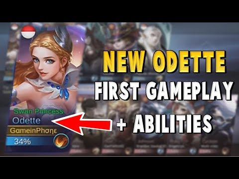 NEW ODETTE FIRST GAMEPLAY LEAKED !!! OVERPOWERED HERO ? Mobile Legends