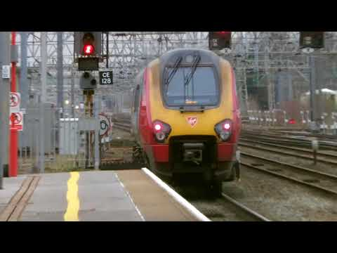 Trains at Crewe, WCML, 21/2/18