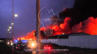 Samsung Samha Setif prend le feu    حريق في مصنع سامسونغ سمحة سطيف الجزائر 1080p