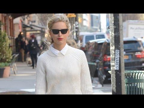 Did Karolina Kurkova Pull Off This All-White Outfit? | Fashion Flash