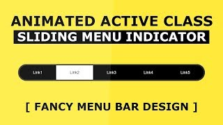 Animated Active Menu Indicator With Html, CSS and Javascript - Sliding Active Class Tutorial