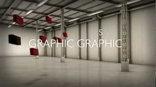 Graphic Graphics Warehouse Ident in Cinema 4D