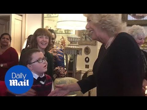 Camilla welcomes children to Clarence House to help decorate tree
