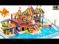 - DIY - How to Build Water Park, Slide Bridge, Swimming Pools From Magnetic Balls Satisfyings
