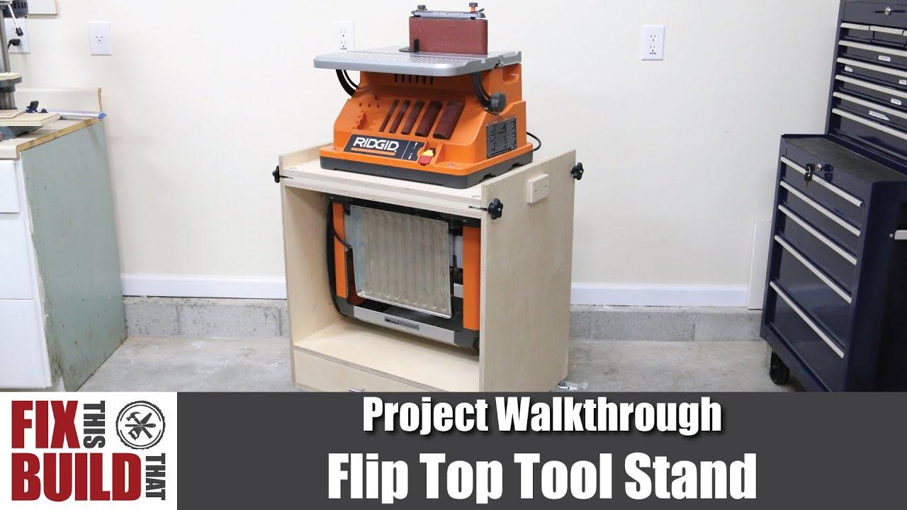 Flip Top Tool Stand for Planer  Spindle Sander  DIY