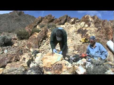Mining Haley's Comet Nevada Turquoise