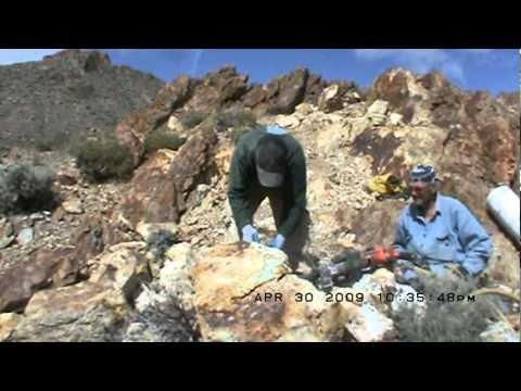 Mining Haley's Comet Nevada Turquoise