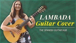 Lambada guitar cover (with TAB) видео